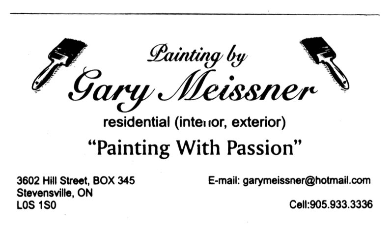 Business card for Painting by Gary Meissner